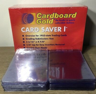 (100) Card Saver 1 Graded Card Sleeves Great For Submissions PSA
