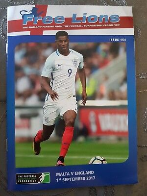Malta v England Free lions Sept 1st 2017 Mint condition