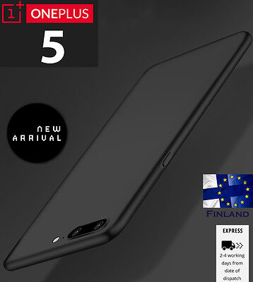 New Shockproof Ultra Thin Matte Soft TPU Case Cover Protctor for OnePlus 5 black