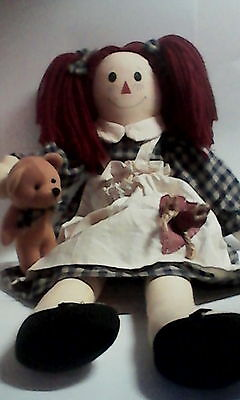 Country Primitive Whimsical Raggedy Ann doll 18""