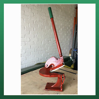 USED - WNS Sheet Metal Throatless Shear Curved Blade Cropper Cutter Guillotine