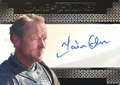Game Of Thrones Valyrian Steel VALYRIAN AUTOGRAPH card IAIN GLEN as SER JORAH