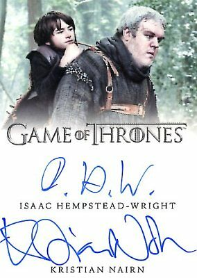 Game Of Thrones Valyrian Steel DUAL AUTOGRAPH card NAIRN & HEMPSTEAD-WRIGHT