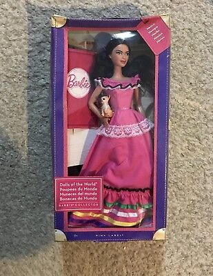 Dolls Of The World Barbie Mexico New In Box