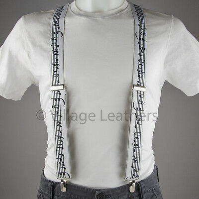 Music Note Braces Suspenders made in England