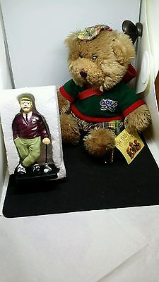 "Golfer's Collectors Gift Bundle: ""gordon The Golfer"" Soft Toy+4"" Golfer Figurine"