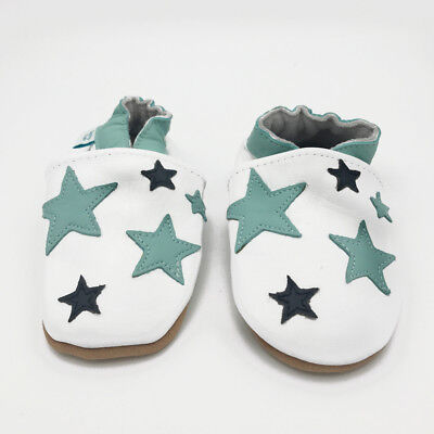 *SECONDS* BOYS 6-12 MONTHS - Dotty Fish Soft Leather Baby and Toddler Shoes