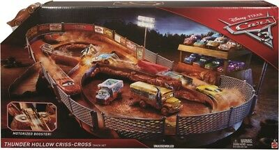 NEW Disney Cars Thunder Hollow Criss Cross Track Set from Mr Toys
