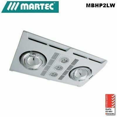 Martec Profile Plus 2 heat lamp LED 3 in 1 bathroom heater Removable grill