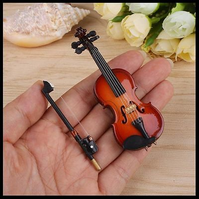 Violin - Miniature with bow and Case Gift Musical Instruments String AUS SELLER