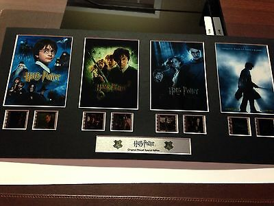 Harry Potter 1-4 Authentic Original Filmcell Special Edition Unframed