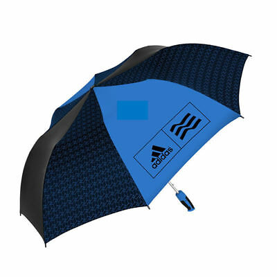 "58"" Compact Adidas Umbrella (Black & White/Blue) Golf Soccer Sports Rain Weather"
