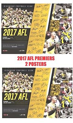 2017 Afl Premiers Richmond Tigers Afl Official Premiership Poster-2 Posters