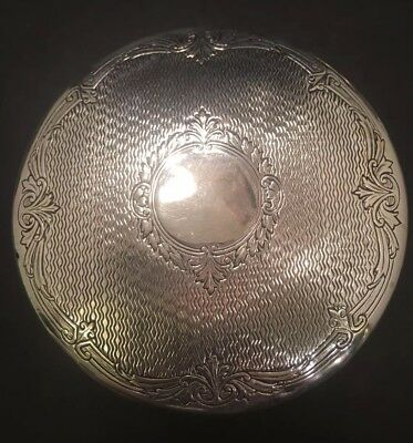 Vintage Webster Sterling Silver & Crystal Powder Box / Jewelry Box