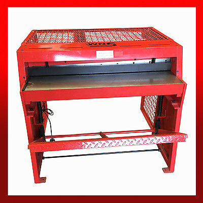 WNS Sheet Metal Cast Treadle Guillotine Foot Shear 1000 x 1.0mm c/w Rear Guard