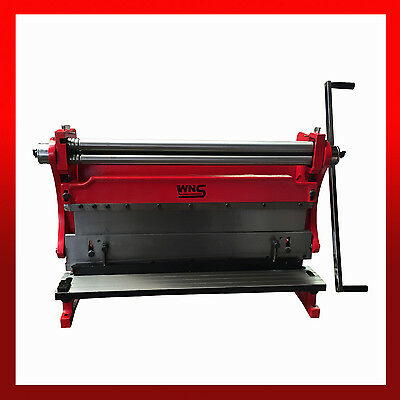 WNS 3 in 1 Combination Machine 750mm - Bending Rolls, Guillotine & Folder 0.8mm