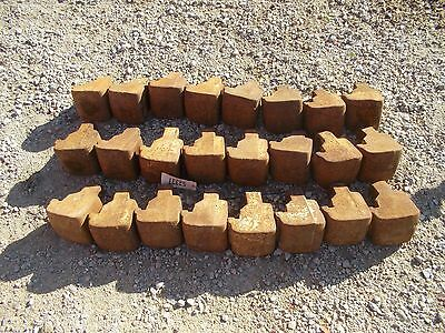 Ford Ferguson tractor COMPLETE set 24 pie weights weight & Centers center mounts