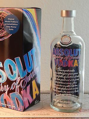 Absolut Vodka Andy Warhol Collectible Limited Edition bottle 750ml (Empty) w/Box