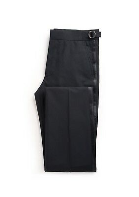 Johnny Tuxedo - Slim flat-front trouser with satin side-trim