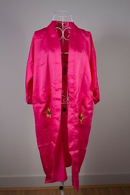 Size L Lovely Ladies Pink Satin Dressing Gown. Great Condition. Bargain Price!