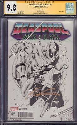 Deadpool: Back in Black #1 Liefeld Sketch Variant CGC 9.8 Signed by Rob Liefeld!