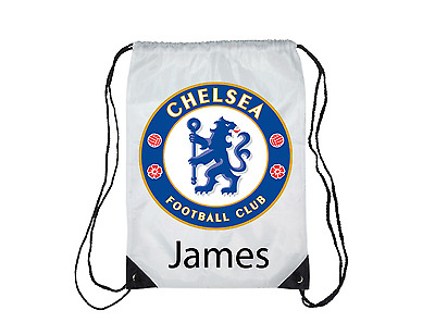 Chelsea FC personalised Gym, Pe, Swim, School bag any name