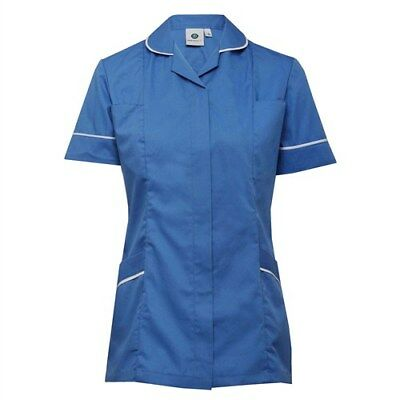 Ladies Nurses/Carers Tunic NEW:cat1 with popper & zip fastening, various colours