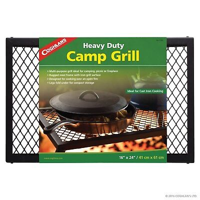 """Coghlans Camp Grill Heavy Duty Grill For Camping Picnic Fireplace 16"""" X 24"""""""