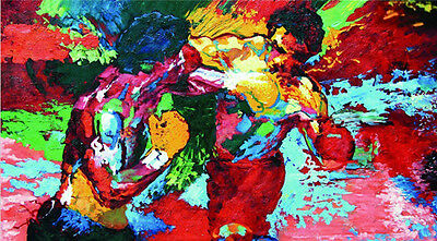 Leroy Neiman Rocky Vs Apollo Abastract Oil Painting Hd Print on Canvas12b20Fj116