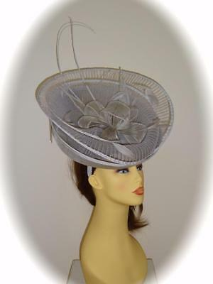 Gwyther Snoxell Hatinator, Silver, Mother of Bride Wedding Occasion Ascot