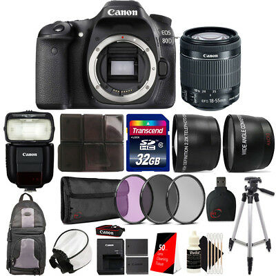 Canon EOS 80D DSLR Camera with 18-55mm Lens , 430EX lll Flash and Accessory Kit