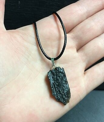 Tektite Meteorite Pendant With Cord - High Vibration Psychic Crown Astral Dreams