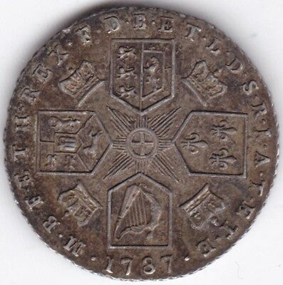 1787 George III Sixpence***Collectors***SIlver***UNC***