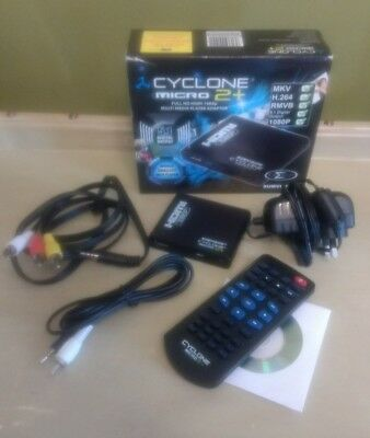 Boxed Sumvision Cyclone mkv full hd Micro 2+ Multi Media Player Adapter