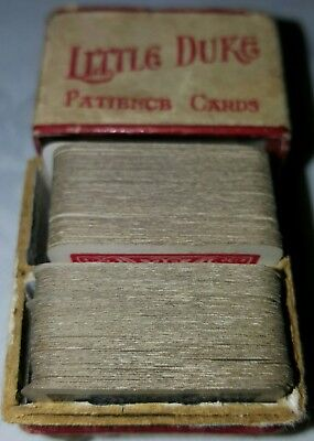 """Antique """"Little Duke patience playing cards"""" in a small box complete"""