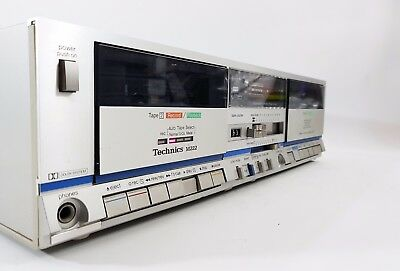 Technics M222 Stereo Double Cassette Deck - Dolby B - GWO - FREE UK DELIVERY