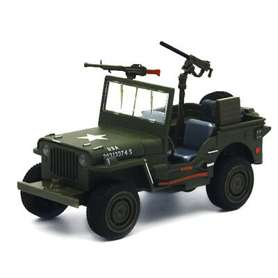 Willys 1:32 WW II Jeep Off-road Military Force Army Vehicle Alloy Diecast Model