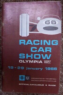 Racing Car Show 7th Catalogue & Guide Olympia January 1966