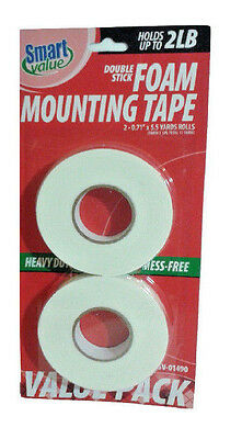 2 IN Pack Smart Value Double Stick Foam Mounting Tape