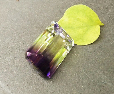 20 cts. 21.5x13mm  Octagon Cut Ametrine Bi-Color Yellow Purple Color
