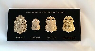 Historical Changes to FBI Badges Lucite Paperweight/Plaque