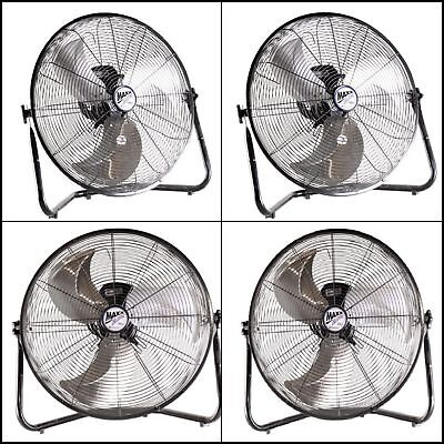 "20"" Industrial Fan Rolling High Velocity Shop Commercial Portable Air Heavy Duty"