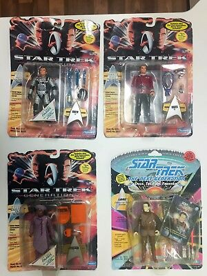 Star Trek Action Figures Lot Of 4 Playmates 1994