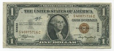 Series 1935-A $1 **HAWAII  WW2** Silver Certificate Note