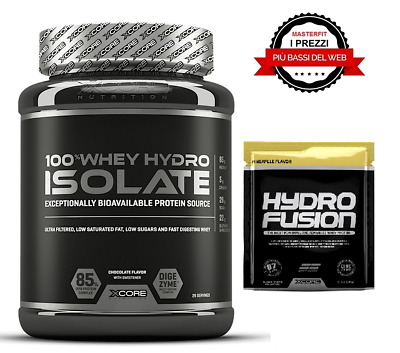 PROTEINE ISOLATE 100% Xcore Whey Hydro Isolate SS 900 g