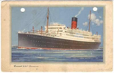 """Advertising Card: CUNARD STEAM-SHIP CO. LINER RMS """"FRANCONIA,"""" A20"""