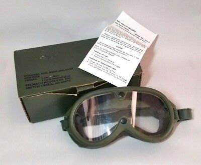 Army Goggles Sun, Wind, Dust Clear Lens Military STEMACO 8465-01-004-2893