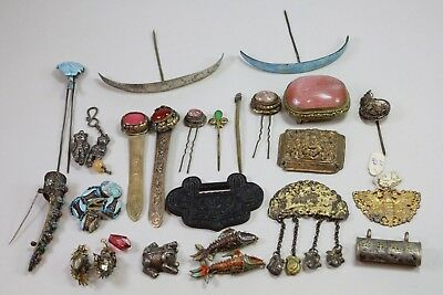 Group Of 26 Old Chinese Mixed Jewlery