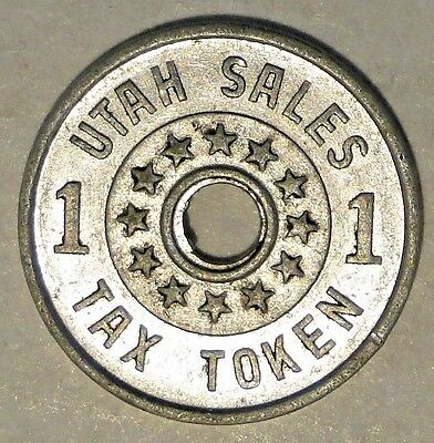 1937-1942 Token,Utah Sales Tax for Commissions 1.  N25