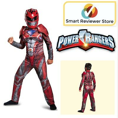 Child Halloween Costume Power Rangers Red Ranger Classic Muscle Boy Outfit Kids